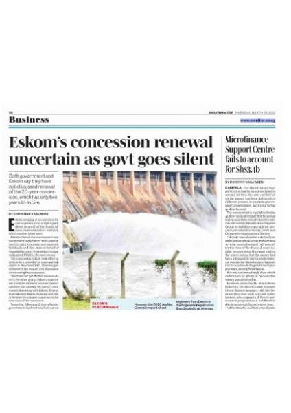 Eskom concession renewal uncertain