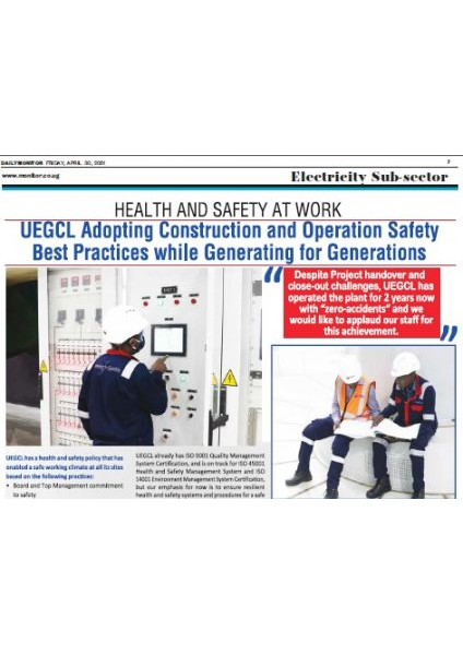 UEGCL - Health and Safety at Work