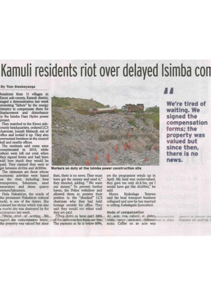 Kamuli Residents Riot