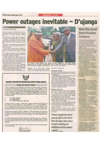 Power outages inevitable-D