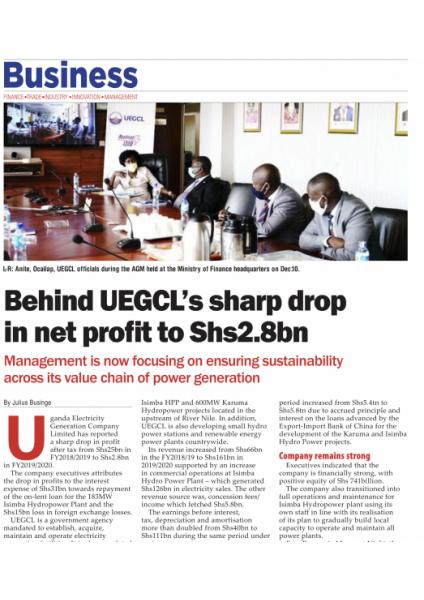 Behind UEGCL