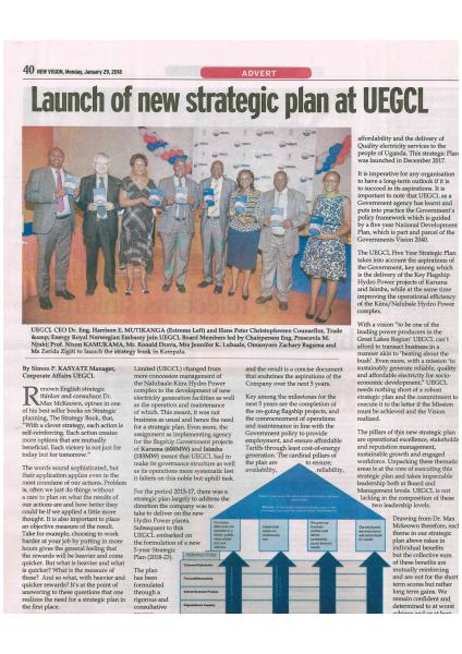 UEGCL Strategic Plan