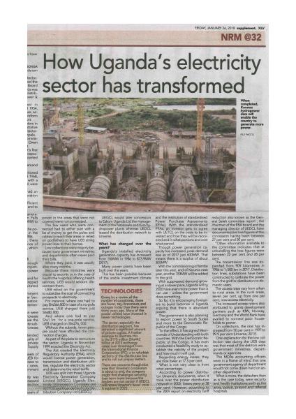 How Uganda electricity sector has transformed
