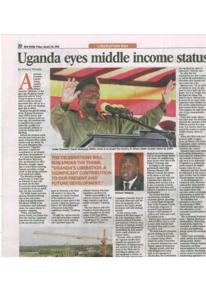 Middle Income status for Uganda