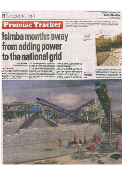 Isimba months away from National Grid