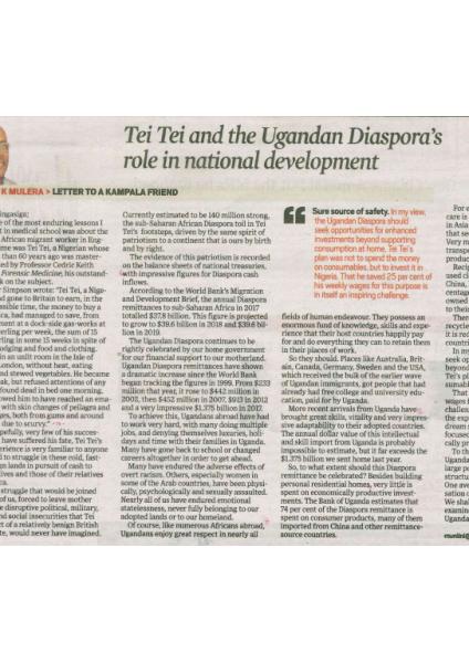 Tei Tei and the Ugandan Diaspora